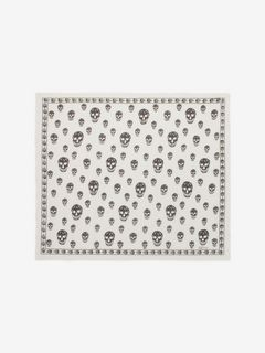 Classic Silk Blend Skull Scarf