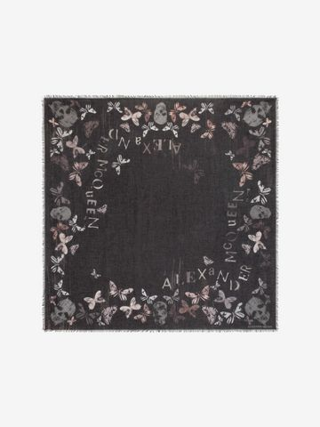 ALEXANDER MCQUEEN Bleached Butterfly Scarf Fashion Scarf D f