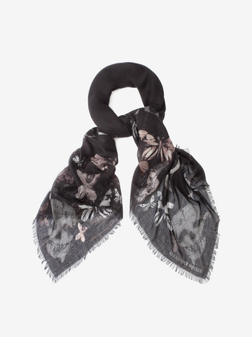 ALEXANDER MCQUEEN Bleached Butterfly Scarf Fashion Scarf D r