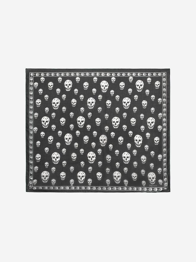 ALEXANDER MCQUEEN Classic Silk Chiffon Skull Scarf Skull Scarf D f
