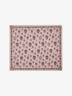 Classic Chiffon Skull and Star Scarf