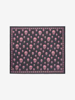 Classic Silk Chiffon Skull Scarf