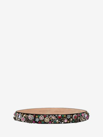 ALEXANDER MCQUEEN Embroidered snap belt Belt D f
