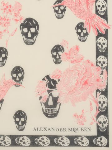 ALEXANDER MCQUEEN Hummingbird Scarf Skull Scarf D d