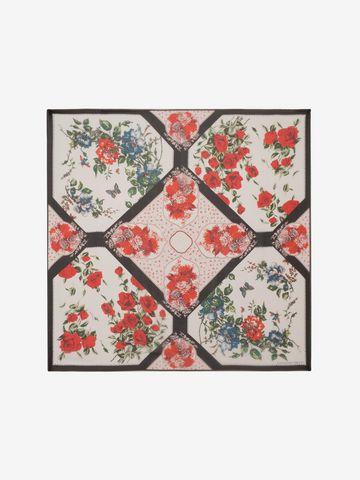 ALEXANDER MCQUEEN Floral Tablecloth Scarf Seasonal Scarf D f