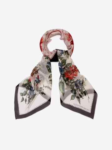 ALEXANDER MCQUEEN Floral Tablecloth Scarf Seasonal Scarf D r