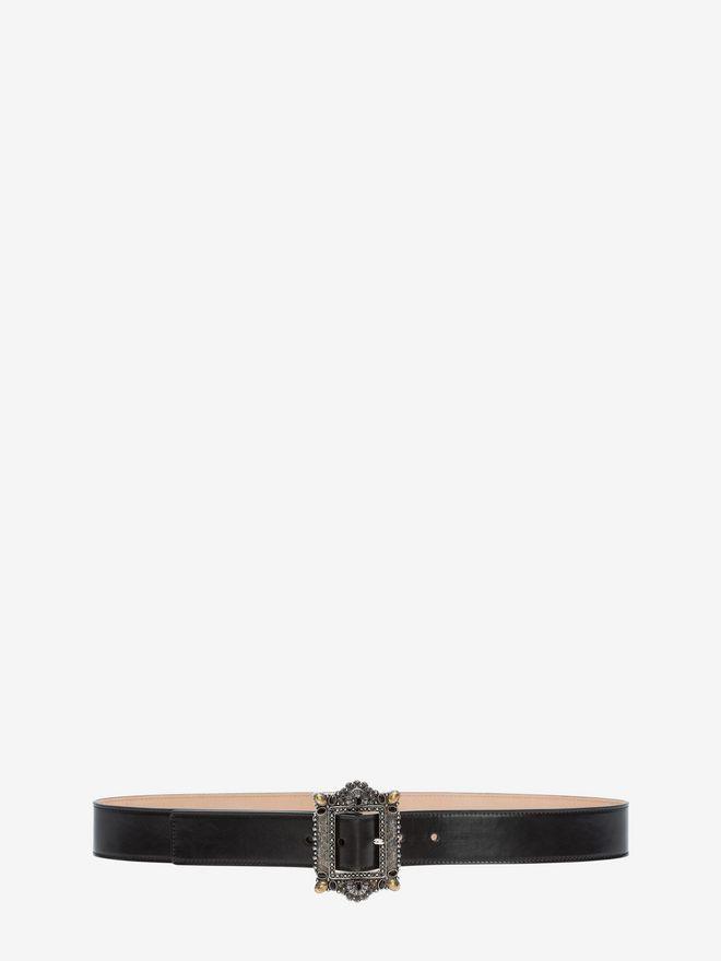 ALEXANDER MCQUEEN Jewelled Buckle Waist Belt Belt D f