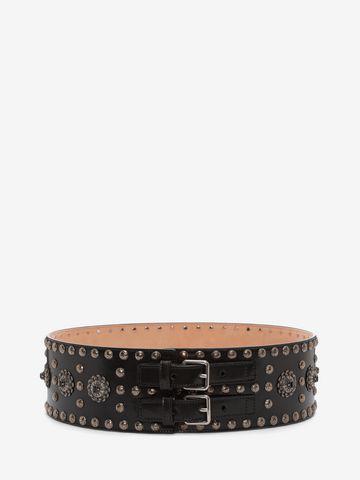 ALEXANDER MCQUEEN Embellished Waist Belt Belt D f