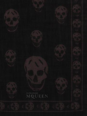 ALEXANDER MCQUEEN Classic Skull Pashmina Scarf Seasonal Scarf Man d