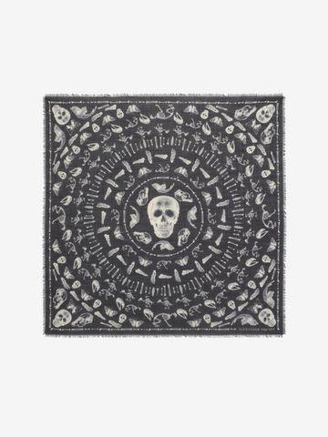 ALEXANDER MCQUEEN Skulls and Bones Scarf Fashion Scarf U f