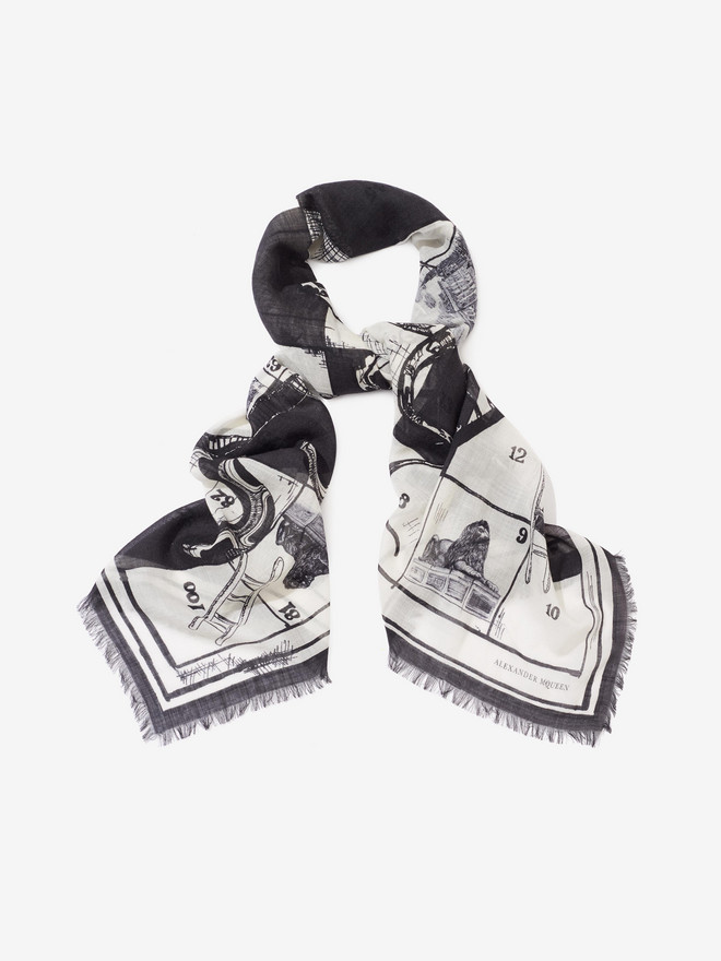 "ALEXANDER MCQUEEN ""Snake and Ladders"" Scarf Fashion Scarf U r"