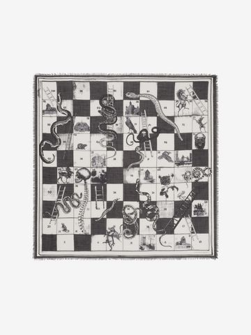 "ALEXANDER MCQUEEN ""Snake and Ladders"" Scarf Fashion Scarf U f"