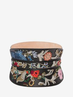 Embroidered Corset Belt