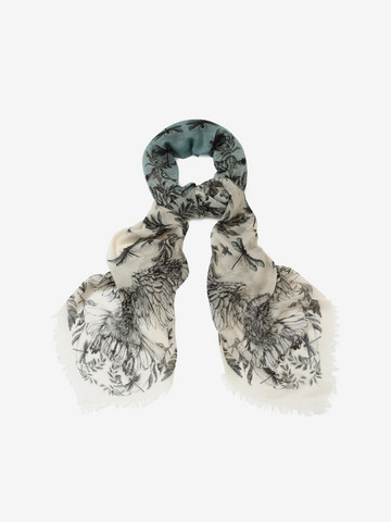 ALEXANDER MCQUEEN Eagle and Dragonfly Scarf Seasonal Scarf Woman r
