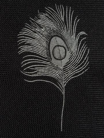 cravate au motif plumes de paon alexander mcqueen. Black Bedroom Furniture Sets. Home Design Ideas