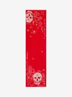 Long Skull Scarf