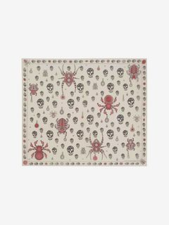 Jeweled Bug Silk Scarf