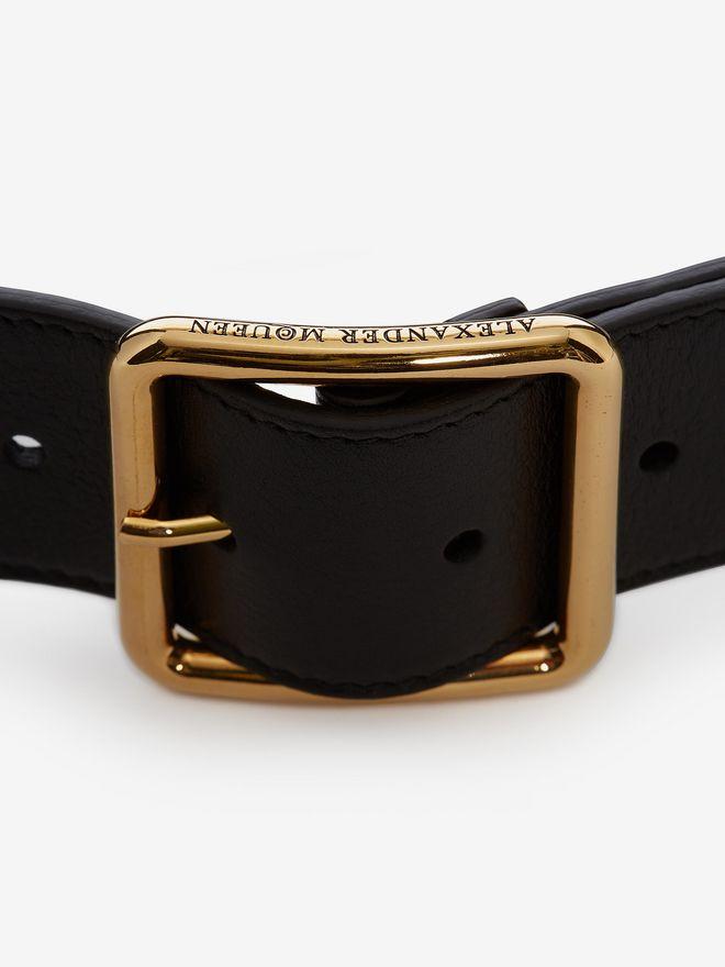 ALEXANDER MCQUEEN Leather Belt Belt D d