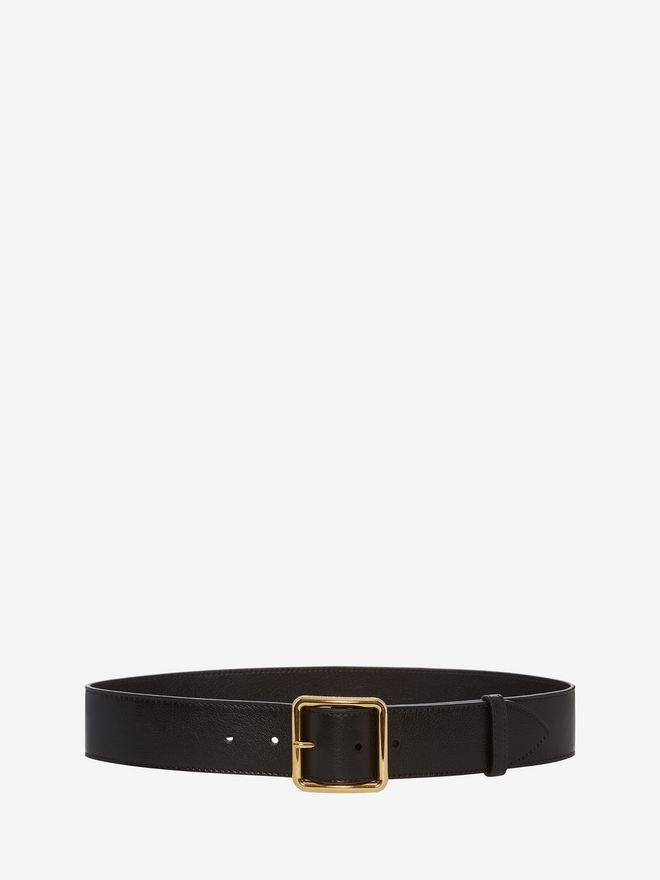 ALEXANDER MCQUEEN Leather Belt Belt D f