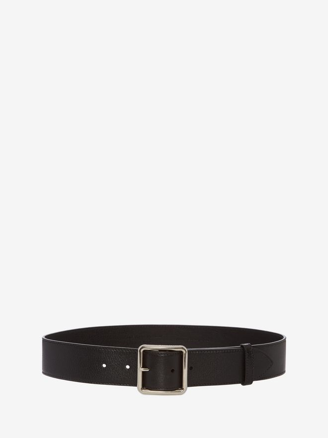 ALEXANDER MCQUEEN Leather Belt Belt Woman f