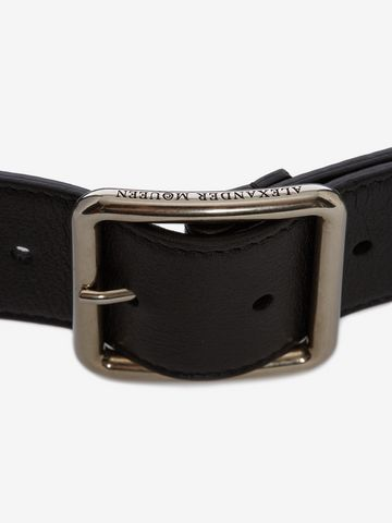 ALEXANDER MCQUEEN Leather Belt Belt Woman d