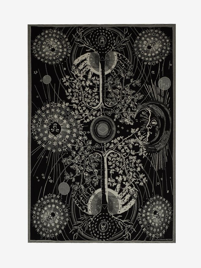 ALEXANDER MCQUEEN Tree of Life Blanket Men's Scarf U f
