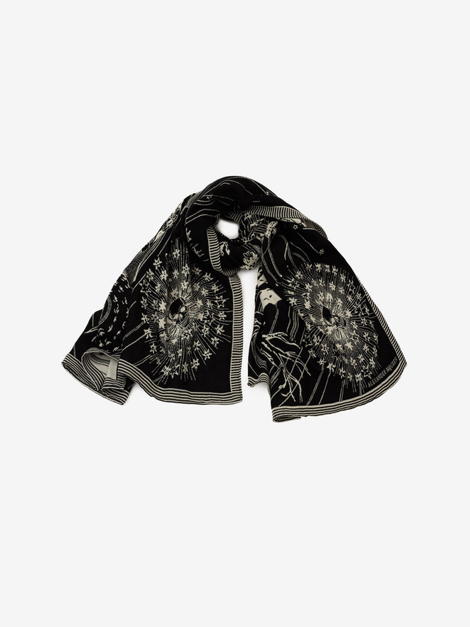 ALEXANDER MCQUEEN Tree of Life Blanket Men's Scarf U r