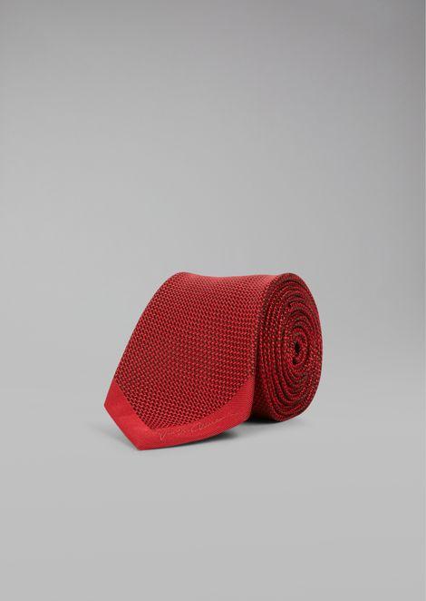 Woven Silk Tie for Men | Giorgio Armani | Tuggl