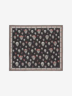 Flower Crown Skull Chiffon Scarf