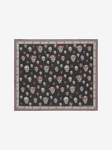 Flower Crown scarf - Black Alexander McQueen RcQoUk