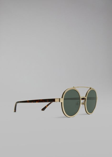 42563da1be10 Catwalk sunglasses with rounded lenses | Man | Giorgio Armani