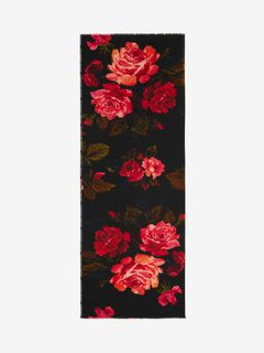 Painted Roses Selvedge Scarf