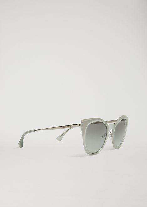 58691bcc7b87 Cat-Eye Glasses In Transparent Nylon Fibre