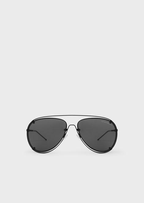 6e093e1b07c Open Wire metal aviator sunglasses