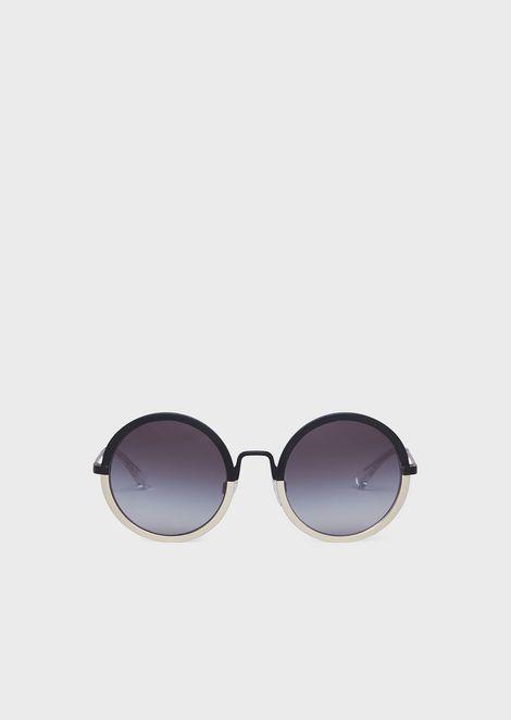 5a1b0868d0a7 Woman round sunglasses