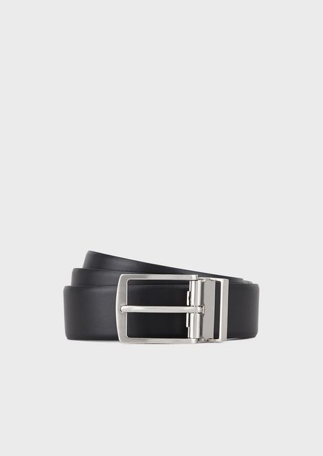 3d2266771b Gift Set With Reversible Belt Panel And Two Interchangeable Buckles for Men  | Giorgio Armani