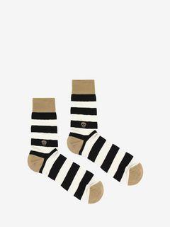 Knitted Stripy Socks