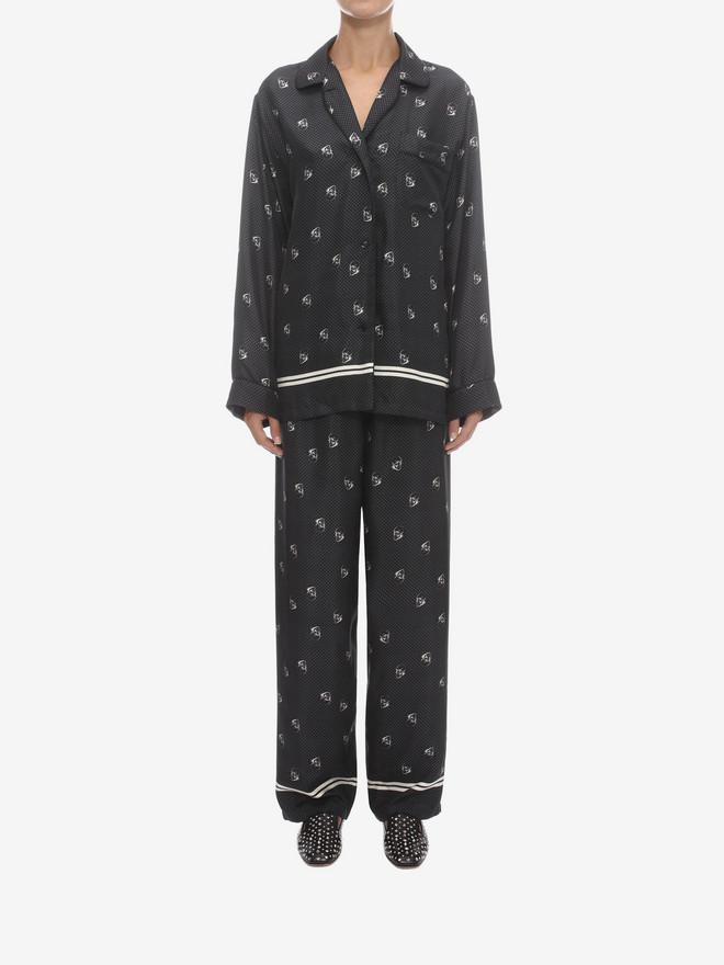 Skull Silk Pajama Set Alexander Mcqueen