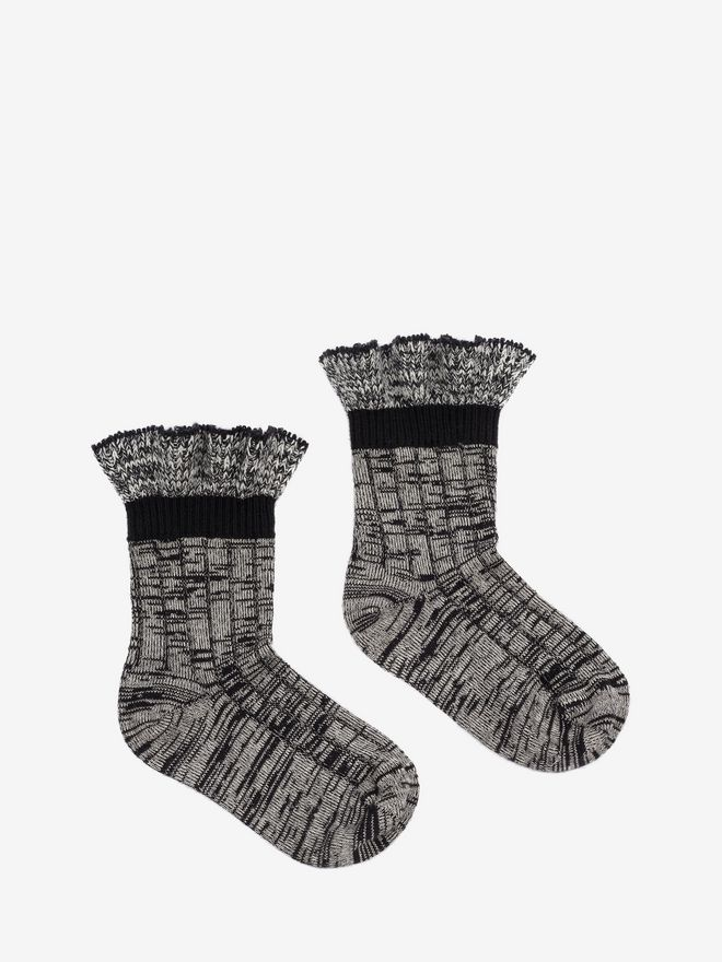 ALEXANDER MCQUEEN Tweed Ankle Socks Sock Woman f