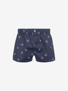 ALEXANDER MCQUEEN Pajama U Cotton Boxer Shorts f