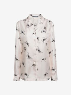 ALEXANDER MCQUEEN Pajama D Moth Silk Pajamas  f