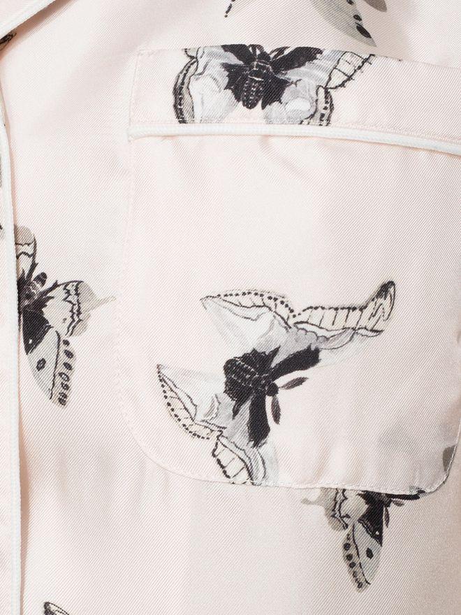 ALEXANDER MCQUEEN Moth Silk Pyjamas  Pyjama D l