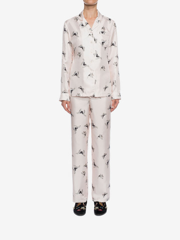 ALEXANDER MCQUEEN Moth Silk Pyjamas  Pyjama D r