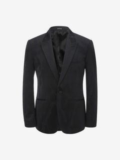 ALEXANDER MCQUEEN Tailored Jacket U Worn away Satin Jacket f