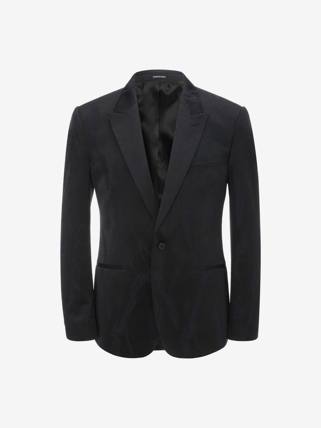 ALEXANDER MCQUEEN Worn away Satin Jacket Tailored Jacket Man f