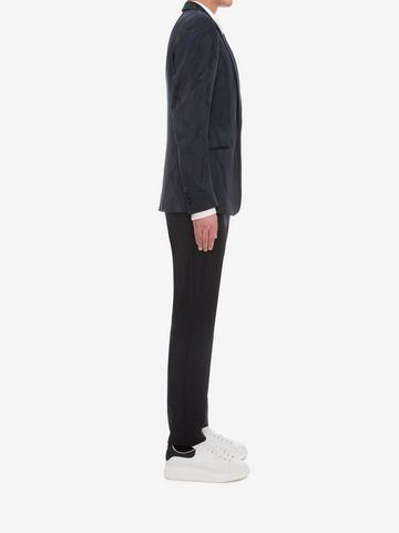 ALEXANDER MCQUEEN Worn away Satin Jacket Tailored Jacket Man d