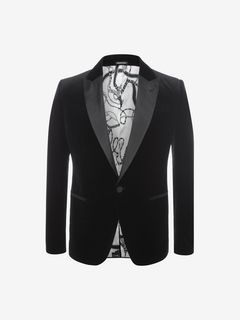 ALEXANDER MCQUEEN Tailored Jacket U Pressed Velvet Tuxedo Jacket f
