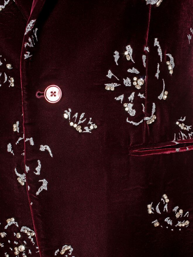 ALEXANDER MCQUEEN Floral Velvet Jacket Tailored Jacket U a