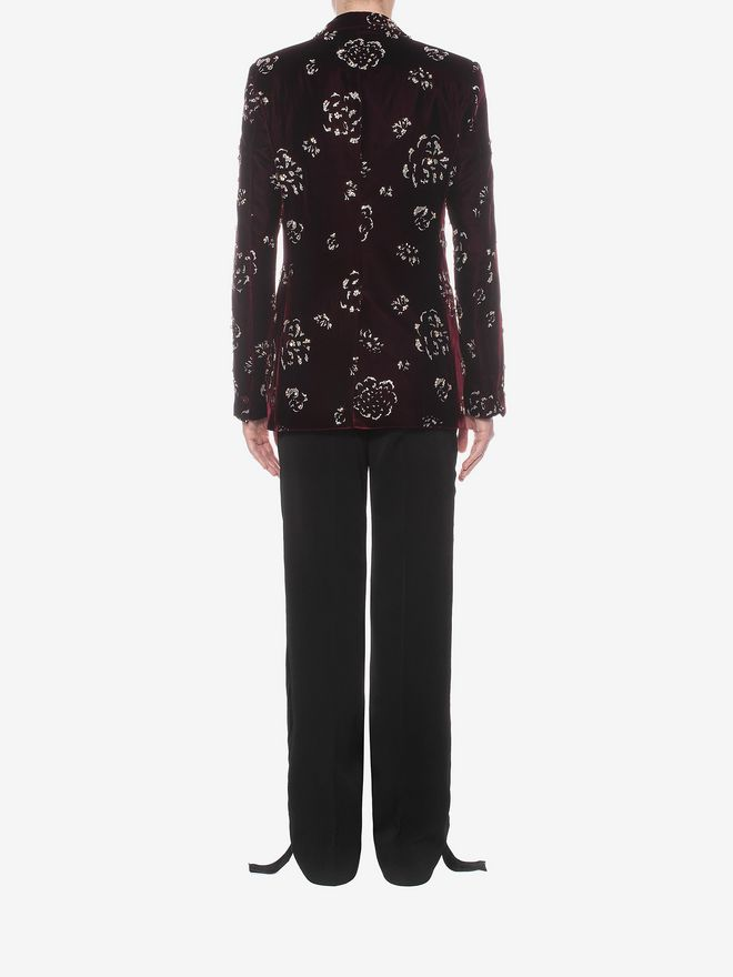 ALEXANDER MCQUEEN Floral Velvet Jacket Tailored Jacket U e
