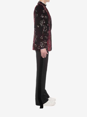 ALEXANDER MCQUEEN Floral Velvet Jacket Tailored Jacket U d